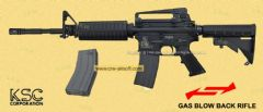 M4A1 Gas Blowback Rifle (System7 Two) 2 mag by KSC Taiwan